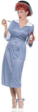 1950s Costumes- Poodle Skirts, Grease, Monroe, Pin Up, I Love Lucy Womens I Love Lucy Costume $57.99 AT vintagedancer.com