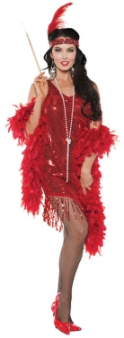Roaring 20s Costumes- Flapper Costumes, Gangster Costumes Womens Flapper Costume $40.99 AT vintagedancer.com
