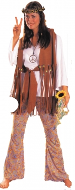 60s Costumes: Hippie, Go Go Dancer, Flower Child Womens Hippie Costume $66.99 AT vintagedancer.com