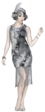 Roaring 20s Costumes- Flapper Costumes, Gangster Costumes Womens Ghostly Flapper Costume $46.99 AT vintagedancer.com