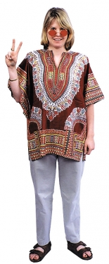 60s Costumes: Hippie, Go Go Dancer, Flower Child Womens Hippy Shirt $28.99 AT vintagedancer.com