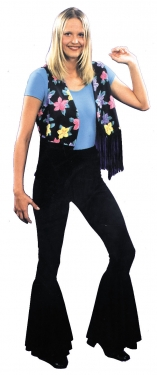 60s Style: How to Recreate the Outfits Womens 70s Fringed Vest $33.99 AT vintagedancer.com