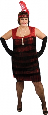 Roaring 20s Costumes- Flapper Costumes, Gangster Costumes Womens Flapper Costume $63.97 AT vintagedancer.com