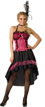 Victorian Costumes: Dresses, Saloon Girls, Southern Belle, Witch Womens Saloon Gal Costume $49.99 AT vintagedancer.com