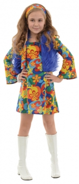 Vintage Style Children's Clothing: Girls, Boys, Baby, Toddler Girls Hippie Costume $38.99 AT vintagedancer.com