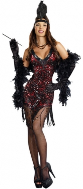 Roaring 20s Costumes- Flapper Costumes, Gangster Costumes Womens Sexy Flapper Costume $67.97 AT vintagedancer.com