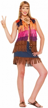 60s Costumes: Hippie, Go Go Dancer, Flower Child Womens Fringed Hippie Vest $28.99 AT vintagedancer.com