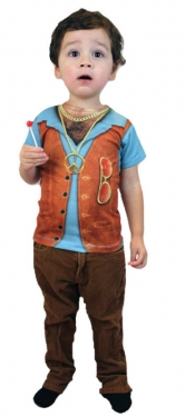Vintage Style Children's Clothing: Girls, Boys, Baby, Toddler Boys Hairy Chest Hippie Child Costume $14.99 AT vintagedancer.com