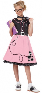 Vintage Style Children's Clothing: Girls, Boys, Baby, Toddler Girls Sock Hop Costume $59.99 AT vintagedancer.com