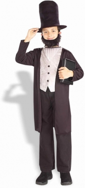 Vintage Style Children's Clothing: Girls, Boys, Baby, Toddler Abraham Lincoln Child Costume $33.99 AT vintagedancer.com