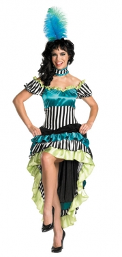 Victorian Costumes: Dresses, Saloon Girls, Southern Belle, Witch Womens Saloon Girl Costume $46.99 AT vintagedancer.com