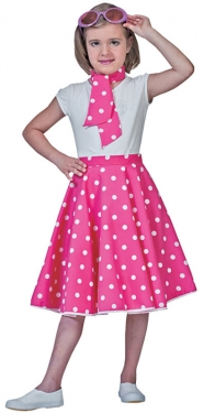 Vintage Style Children's Clothing: Girls, Boys, Baby, Toddler Girls Sock Hop Skirt $33.99 AT vintagedancer.com