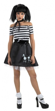 1950s Costumes- Poodle Skirts, Grease, Monroe, Pin Up, I Love Lucy Womens Gothic Poodleskirt Costume $14.99 AT vintagedancer.com