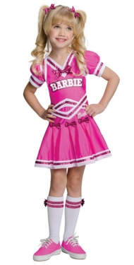 Girl's Barbie Cheerleader Costume