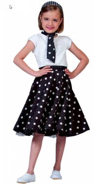 Vintage Style Children's Clothing: Girls, Boys, Baby, Toddler Girls Car Hop Skirt $33.99 AT vintagedancer.com