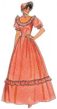 Guide to Victorian Civil War Costumes on a Budget Womens Pattern Pioneer Costume $4.49 AT vintagedancer.com