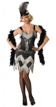 Roaring 20s Costumes- Flapper Costumes, Gangster Costumes Charleston Cutie Womens Costume $73.97 AT vintagedancer.com