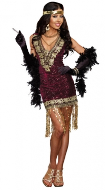 Roaring 20s Costumes- Flapper Costumes, Gangster Costumes Sexy Womens Flapper Costume $65.97 AT vintagedancer.com