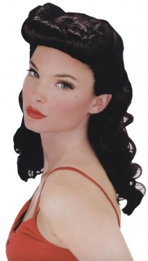 Vintage Hair Accessories: Combs, Headbands, Flowers, Scarf, Wigs Pin Up Babe Wig $33.99 AT vintagedancer.com