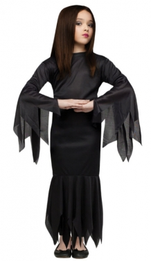 Vintage Style Children's Clothing: Girls, Boys, Baby, Toddler Girls Morticia Costume $18.99 AT vintagedancer.com