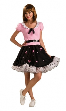 1950s Costumes- Poodle Skirts, Grease, Monroe, Pin Up, I Love Lucy Womens Poodle Skirt Costume $49.99 AT vintagedancer.com