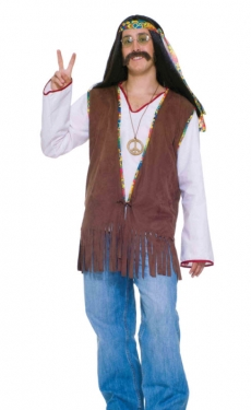 60s Style: How to Recreate the Outfits Suede Hippie Vest $31.99 AT vintagedancer.com
