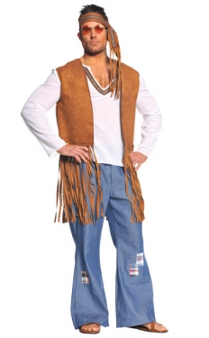 60s Costumes: Hippie, Go Go Dancer, Flower Child Mens Hippie Costume $51.99 AT vintagedancer.com