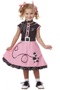 Vintage Style Children's Clothing: Girls, Boys, Baby, Toddler Girls Sock Hop Costume $45.99 AT vintagedancer.com