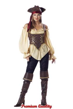 Steampunk Dresses | Women & Girl Costumes Womens Rustic Pirate Costume $134.95 AT vintagedancer.com