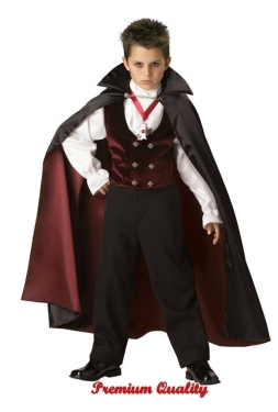 Vintage Style Children's Clothing: Girls, Boys, Baby, Toddler Gothic Vampire Boys Costume $119.97 AT vintagedancer.com