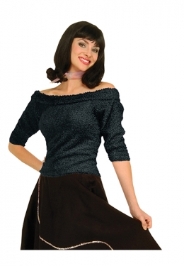 1950s Costumes- Poodle Skirts, Grease, Monroe, Pin Up, I Love Lucy Womens Sock Hop Shirt $29.99 AT vintagedancer.com