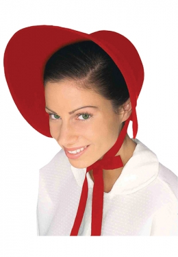 Victorian Costumes: Dresses, Saloon Girls, Southern Belle, Witch Adult Red Felt Pioneer Bonnet $14.99 AT vintagedancer.com