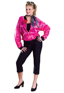 1950s Costumes- Poodle Skirts, Grease, Monroe, Pin Up, I Love Lucy Pink Rock Roll Costume $42.99 AT vintagedancer.com
