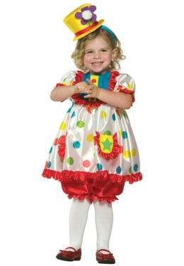 Toddler Clown Girl Costume