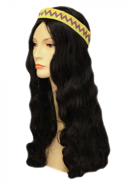 Vintage Hair Accessories: Combs, Headbands, Flowers, Scarf, Wigs Hippie Wig with Band $21.99 AT vintagedancer.com