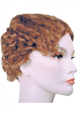 Sonia Adult Wig Complete your flapper costume! Includes: Synthetic fiber Finger-wave 1920s wig. Available Size: One Size fits most Adults Available Color: Dark Brown/Light Golden Blonde