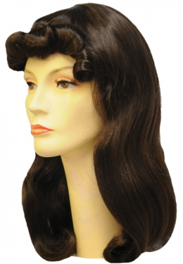 Vintage Hair Accessories: Combs, Headbands, Flowers, Scarf, Wigs Adult Lois L Wig $51.99 AT vintagedancer.com