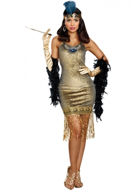 Roaring 20s Costumes- Flapper Costumes, Gangster Costumes Womens Flapper Costume $67.97 AT vintagedancer.com