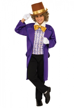 Victorian Kids Costumes & Shoes- Girls, Boys, Baby, Toddler Boys Willy Wonka Costume $42.99 AT vintagedancer.com