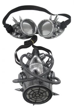 Men's Steampunk Goggles, Guns, Gadgets & Watches Gas Mask And Goggles $28.99 AT vintagedancer.com