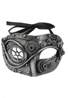 Men's Steampunk Goggles, Guns, Gadgets & Watches Steel Steampunk Gear Mask $19.99 AT vintagedancer.com