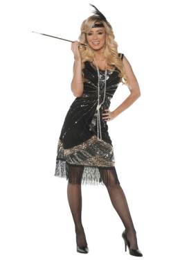 Roaring 20s Costumes- Flapper Costumes, Gangster Costumes Womens Flapper Costume $69.97 AT vintagedancer.com