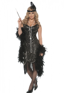 Roaring 20s Costumes- Flapper Costumes, Gangster Costumes Womens Gatsby Girl Flapper Costume $69.97 AT vintagedancer.com