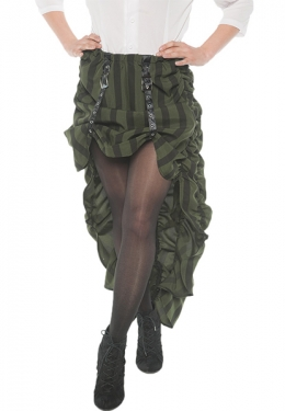 Victorian Costumes: Dresses, Saloon Girls, Southern Belle, Witch Womens Green Steampunk Skirt $36.09 AT vintagedancer.com