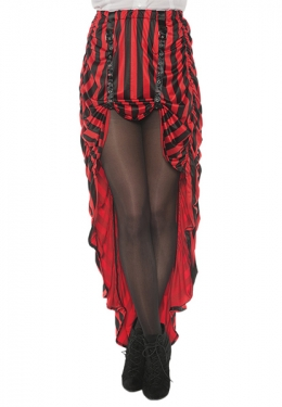 Victorian Costumes: Dresses, Saloon Girls, Southern Belle, Witch Womens Red and Black Steampunk Skirt $36.09 AT vintagedancer.com