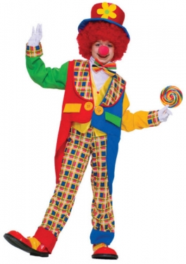 Unisex Clown Costume