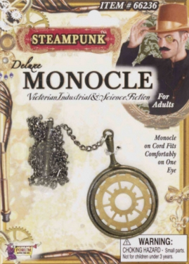 Men's Steampunk Goggles, Guns, Gadgets & Watches Adult Steampunk Monocle $9.99 AT vintagedancer.com