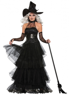 Victorian Costumes: Dresses, Saloon Girls, Southern Belle, Witch Womens Ember Witch Costume $63.99 AT vintagedancer.com
