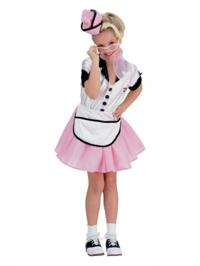 Vintage Style Children's Clothing: Girls, Boys, Baby, Toddler Girls Soda Pop Girl Costume $38.99 AT vintagedancer.com