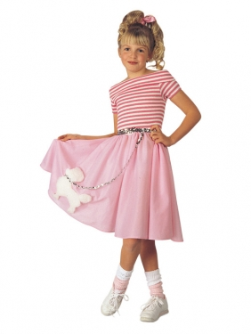 Vintage Style Children's Clothing: Girls, Boys, Baby, Toddler Girls Sockhop Costume $42.99 AT vintagedancer.com